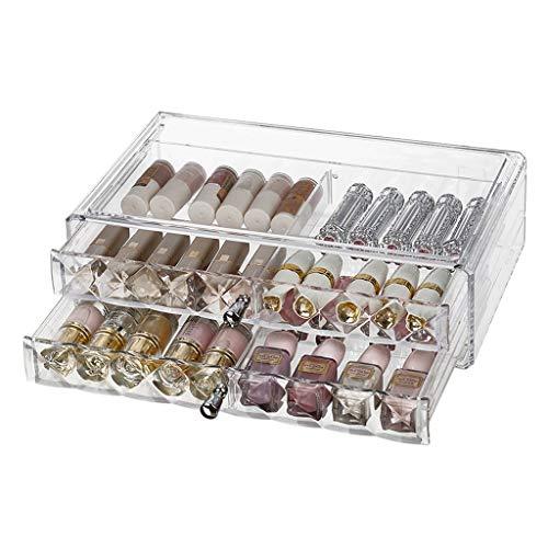 Sminkväska kosmetisk förvaringsbox hem PS skrivbord stor kapacitet kosmetisk förvaringsbox klar (storlek: L 32,8 x B 20,4 x H 9,3 cm - B)