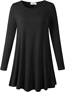 LARACE Plus Size Tunic Tops for Women Long Sleeve Swing Shirt Loose Fit Flowy Clothing for Leggings