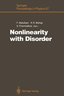 Nonlinearity with Disorder: Proceedings of the Tashkent Conference, Tashkent, Uzbekistan, October 1–7, 1990
