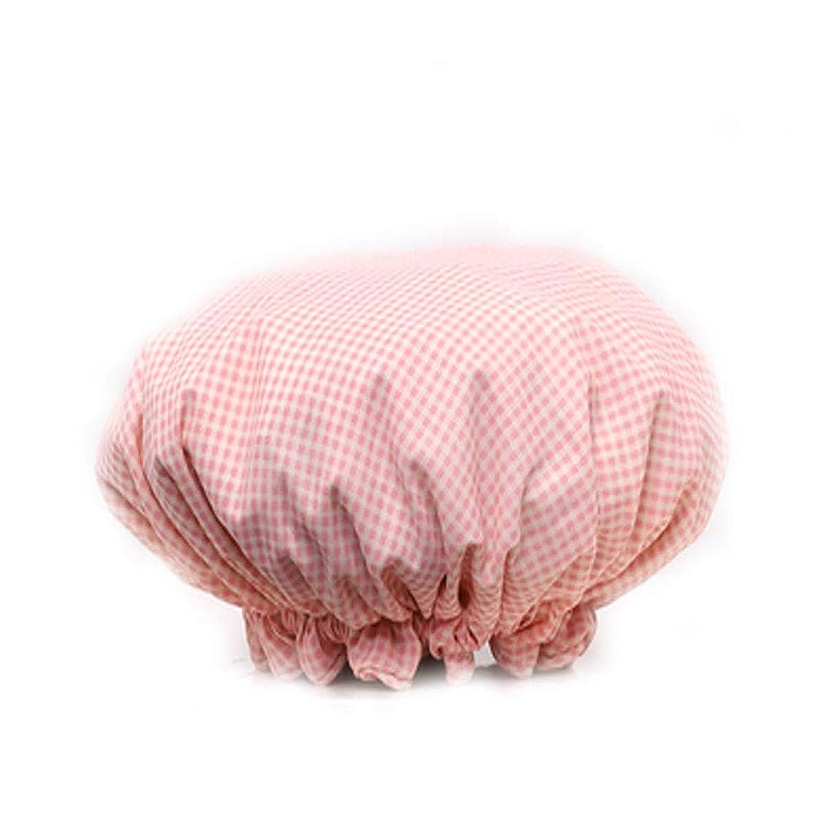 ポスター南方の脅かすJINSHANDIANLIAO シャワーキャップ厚い布二重層女性大人防水入浴キャップシャンプーキャップキッチン防煙シャワーキャップ (Color : 6)