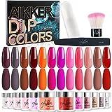 Aikker 12 Color Acrylic Dip Powder Nail Kit...