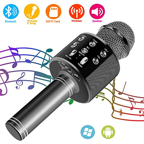 Suntop Micrófono Karaoke Bluetooth