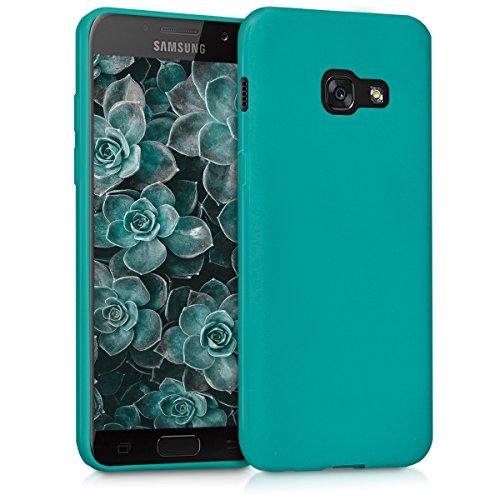 kwmobile Hülle kompatibel mit Samsung Galaxy A3 (2017) - Handyhülle - Handy Case in Petrol matt