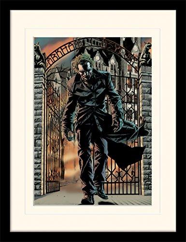 Batman 30 x 40 cm el guason publicado montado y impresión enmarcada
