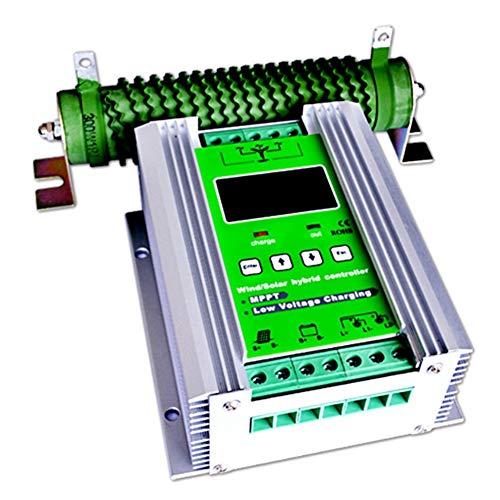 Controlador de carga solar Regulador de carga solar de la turbina de viento de 1200W MPPT Regulador de carga solar de 600W Regulador de la carga solar de 600W Impulsor automático de 12V / 24V con carg