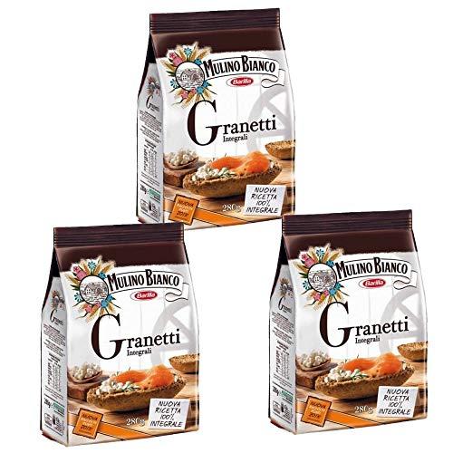 3x Mulino bianco Granetti Vollkorn Knusper Brot für Bruschetta 290g aus italien