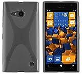 mumbi Protective Case Transparent Black for Nokia Lumia