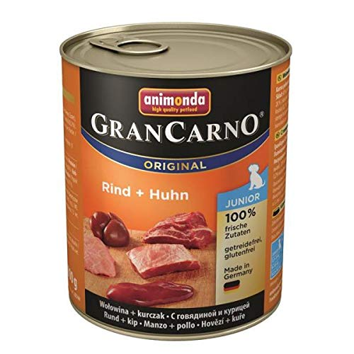 animonda GranCarno Original Junior - Huhn mit Riind - 6 x 800 g