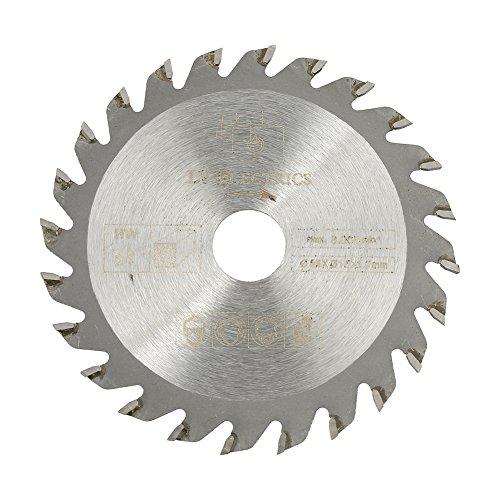 Hoja de sierra circular de carburo de 24 dientes, 85 mm x 15 mm Disco de corte de herramienta rotativa para trabajar la madera con 24 dientes de carburo cementado de 24 die