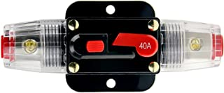 KUMEED 12V DC 20A 30A 40A 50A 60A Car Audio Inline Circuit Breaker Fuse for System Protection (40A)