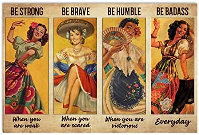 Idea for Her Daughter Wife Mom Mexican Folk Dancing Be Strong Be Brave Be Humble Be Badass Everyday product image