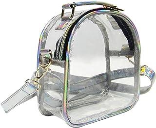 Fenical Umhängetasche klar Umhängetasche wasserdicht transparent Umhängetasche für Frauen Damen Mädchen (schwarz)