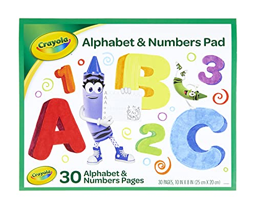 Crayola Alphabet Pad, Tracing Worksheets, 30 Pages, White, 10 x 8 Inches