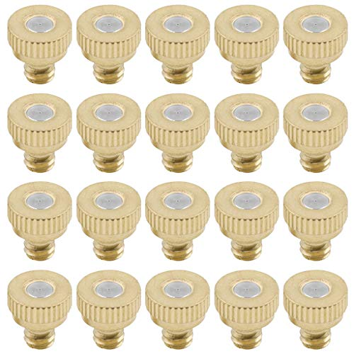 Amazing Deal NEARTIME 20pcs Brass Misting Nozzles for Patio Misting System Outdoor 0.1/0.2/0.3/0.4/0...