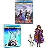 Pack La Reine des Neiges 1 et 2 [Blu-Ray] + Poupée Anna et Olaf
