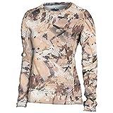 SITKA Gear Women's Hunting Core Lightweight Camo Crew Long Sleeve Shirt, Optifade Waterfowl, Large