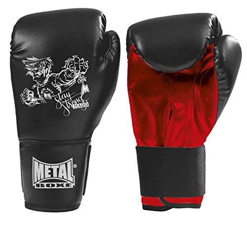 METAL BOXE Pb100 - Guantes para niño, Niño, Color Negro, tamaño Taille 6 oz