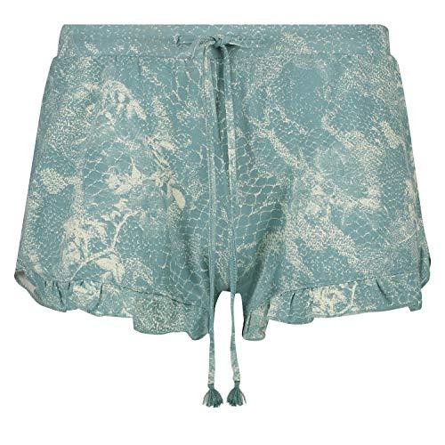 HUNKEMÖLLER Damen Pyjamashorts Jersey grün S