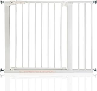 comprar comparacion BabyDan Premier - Bebé Puerta de la Escalera Barrera de Seguridad Blanco, 92,5-99,8cm