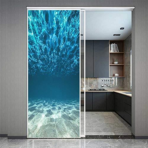 Fensterfolie, Sichtschutz unter Wasser, Ozean, statisch, haftend, Fensteraufkleber, Frost, UV-blockierend, Hitzeregulierung, für Zuhause/Büro, 60 x 90 cm