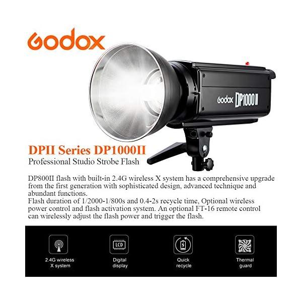 GODOX DP-1000II 1000W Professional Studio Strobe Flash Light Lamp 110V 2.4G for Offers Creative Photography (DP1000II)