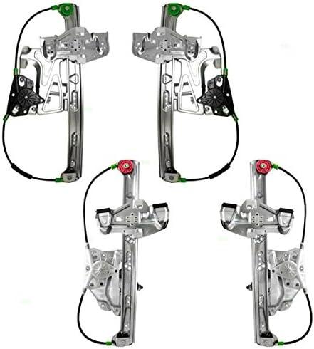 Brock 販売実績No.1 Replacement Set of 4 Power Motors with F Regulators Window 限定Special Price