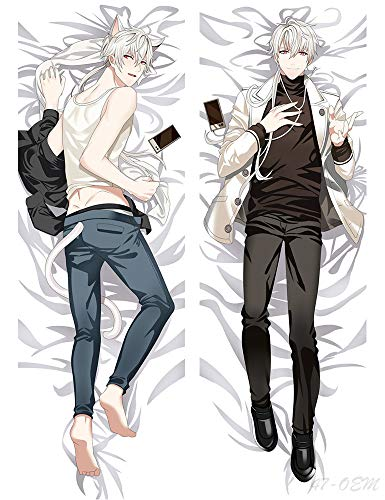 ATHLY Zen Hyun Ryu Mystic Messenger Male Body Pillow Cover Peach Skin 100x34cm Pillowcases