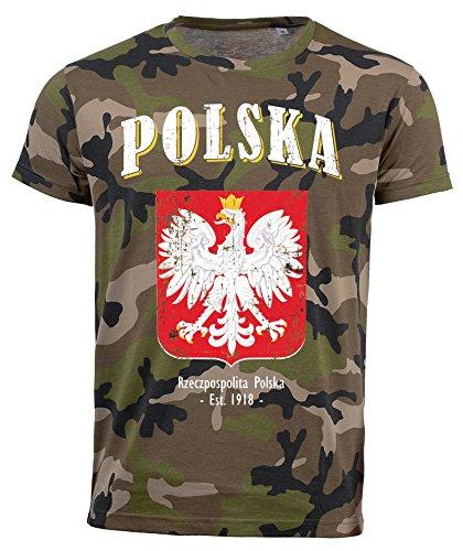 aprom Polen Polska Camouflage T-Shirt D04 (L)