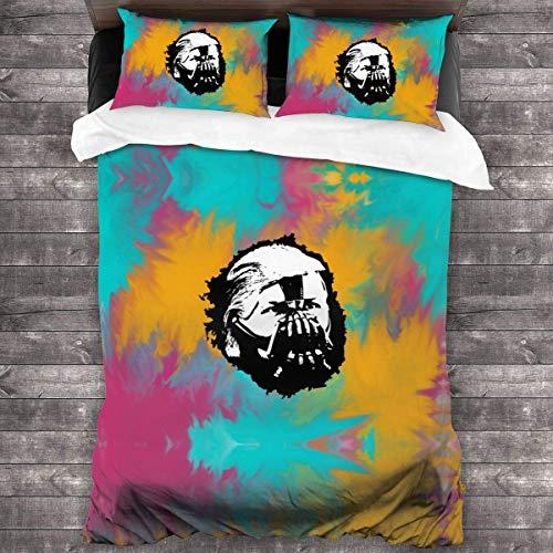 LZMM Trump Bane 3 Piece Bedding in Classic Design Bedding Set (1 Duvet Cover+2 Pillowcases)