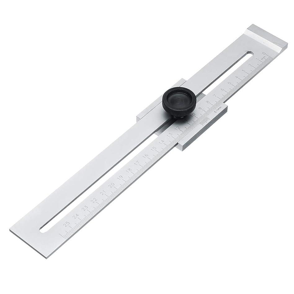 アルミニウム郵便東方Queenwind カーボン鋼 0.1 mm の精密平行定規のマーカー印のゲージラインの定規250mm