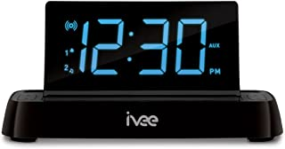 Ivee Interactive Talking iv2b Flex Digital Voice-Activated Alarm Clock with FM Radio (Black)
