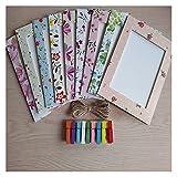 Sencillo 9pcs / set foto marco de fotos 6 pulgadas de regalo creativo DIY pared colgante de papel marco de fotos de la pared Álbum colgante para mesa y pared ( Color : 9pcs a set , Size : 6 inch )