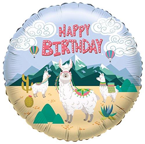 Karaloon F81002P Folienballon Happy Birthday - Lama