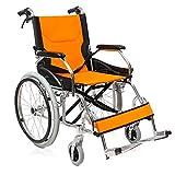 GAIXIA Beweglicher faltender Alter Roller des Aluminiumlegierungshandrollstuhles beweglicher Rollstuhl -