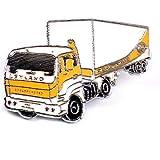 限定 レア ピンバッジ レイランド大型トラック車イギリス英国シルバー銀色文字 ピンズ フランス 288153