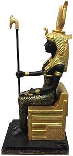 古代エジプトの神の像、エジプトのIsis像の置物座っているIsisグッズ置物19 * 9 * 6.5Cm