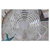 Salad bowl ceramic フルーツプレートミニマル現代の透明なガラスの家の装飾 (Size : A)