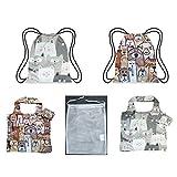 Chilino 931 Bundle Haustiere Set Einkaufstasche, groß und stabil, und bunter Faltbarer Rucksack/Backpacker/Turnbeutel, umweltfreundlich, Polyester