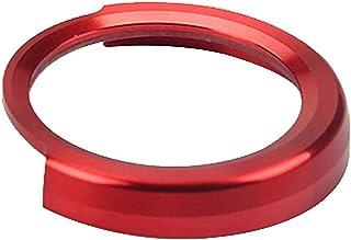 ZqiroLt Ein Schlüssel Startknopf Dekor Ring, Metallautokreis für BMW 1/2/3 / 3GT / 4 / X1 Serie Red