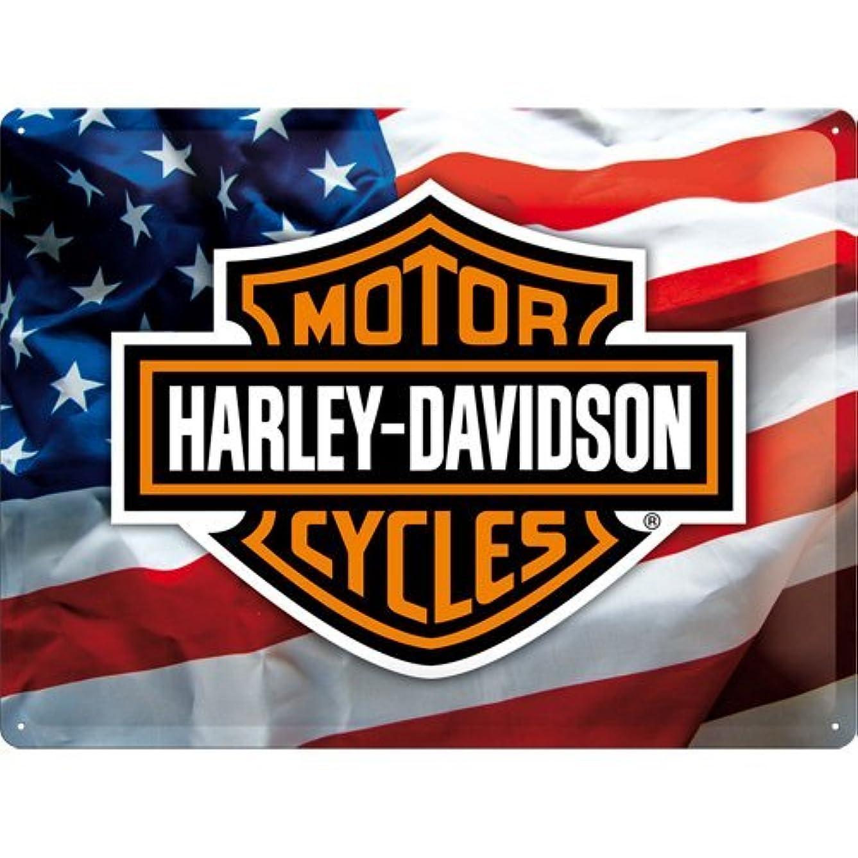 ヒューム突然のロビーブリキ看板 ハーレーダビッドソン Harley-Davidson USA Logo/TIN SIGN アメリカン雑貨 インテリア