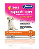 John-sons 4 Fleas Spot On Dog Dual Action Kills Fleas Flea Larvae Biting Lice (Puppies - Small Dogs Less than 4kg)