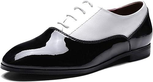 \t Chaussures Richelieu à Lacets Lacets Lacets Pour Femme -En Cuir Verni Chaussures Oxford,Chaussures De Travail,Chaussures En Cuir Professionnelles,Meilleur Choix Pour Un Usage Quotidien d31
