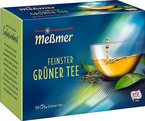 Meßmer Feinster Grüner Tee | 50 Teebeutel | Vegan | Glutenfrei | Laktosefrei