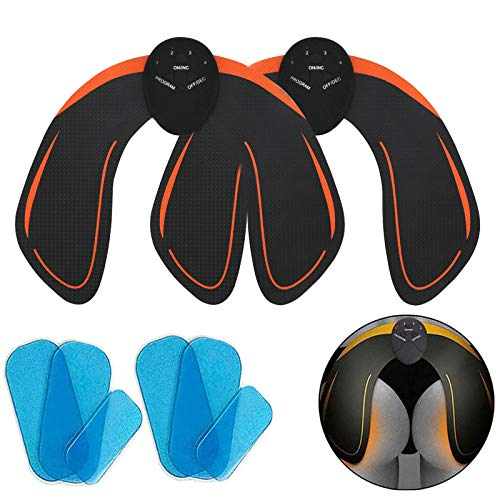 EMS Hips Trainer 2 Packs, Buttocks/Hips Trainer with 6 Gel Pads, Butt Lifting Buttocks Enhancement Device, Fitness Training Hips