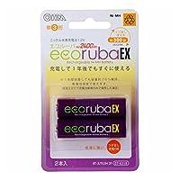 ecorubaEX/エコルーバEX ニッケル水素充電池 単3形2本パック 大容量2,400mAh BT-JUTG3H2P
