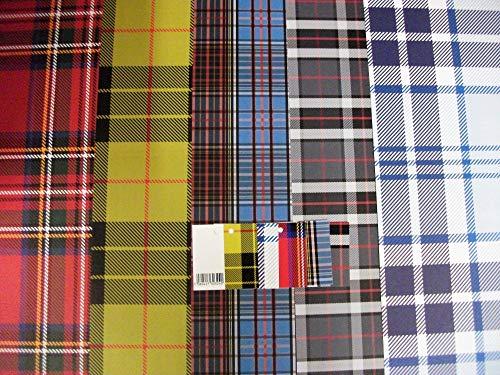 Audsemporium Ltd - 10 hojas de papel de regalo a cuadros y 5 etiquetas