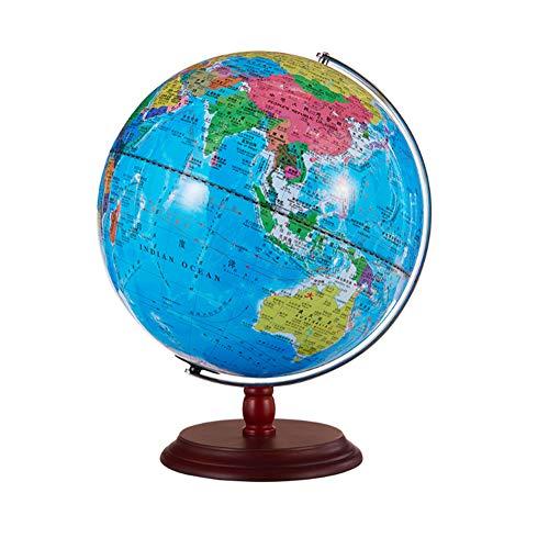 32cm beleuchtet Klassischer Globus Eingebaute LED für beleuchtete physische/politische Doppelkartierung bei Nacht, künstlerisch, lehrreich und unterhaltsam, für Schule, Kinder,Student verwenden