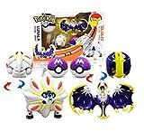 Klycbds 2 Unids / Set De Juego De Caracteres De Figuras De Pokémon, Juguete De Pokémon Solgaleo Lunala Modelo 6-8Cm Juguete De Regalo para Niños