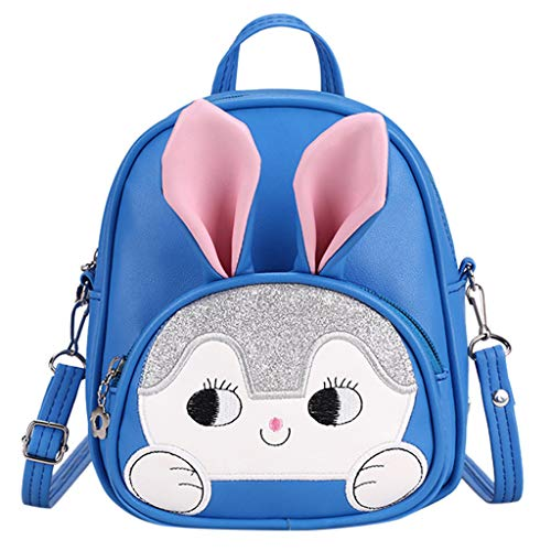 TTLOVE Neue Cartoon Walking Sicherheitsgeschirr Baby Kind Rucksack Niedlichen Tasche Hase Schultasche FüR Jungen Und MäDchen Im Kindergarten(Blau,17x7x21 cm)