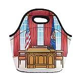 NR Lunchpaket Schreibtisch Büro des US-Präsidenten ovale Neopren Lunchpaket Lunchbox Handtasche...